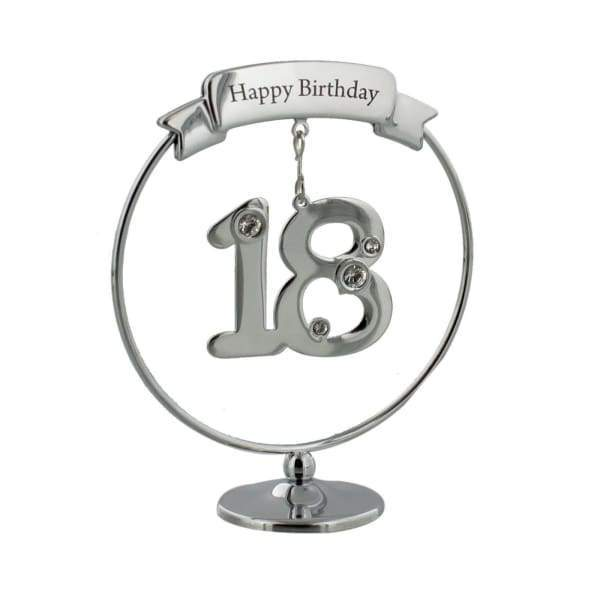 Happy 18th Birthday Crystocraft Swarovski Crystal Ornament