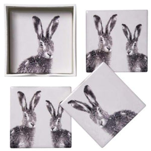 Hare Coasters - Set Of 4