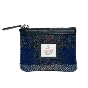 Harris Tweed Coin Purse In Blue Check