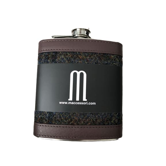 Hip Flask Harris Tweed Heather 7oz