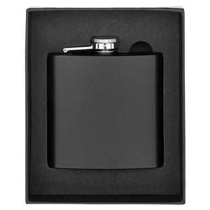Hip Flask Matt Black 6oz