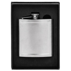 Hip Flask with Matt Panel 6oz