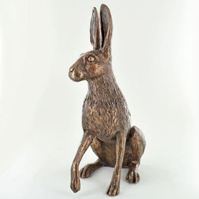 Holly Hare - Cold Cast Bronze Sculpture by Harriet Glen