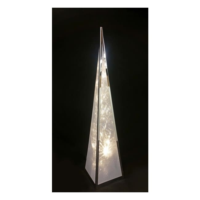 Ice Starburst Pyramid Lamp - Large