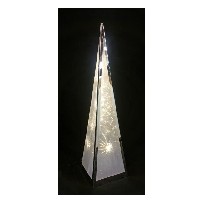 Ice Starburst Pyramid Lamp - Small
