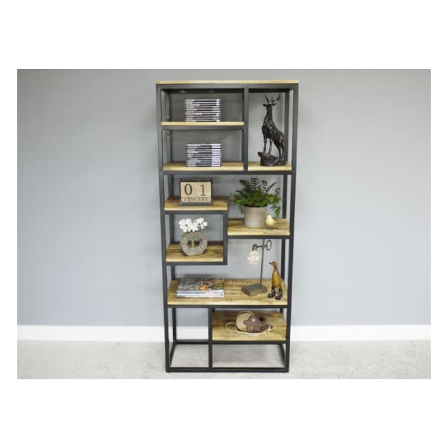 Iron & Mango Wood Shelving Unit - Home - Storage
