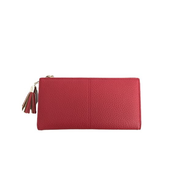 Large Faux Leather Purse in Red by Peace of Mind
