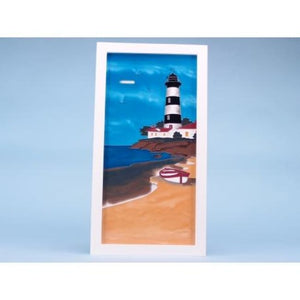 Large Seaside Scenes Lighthouse Glass Plaque