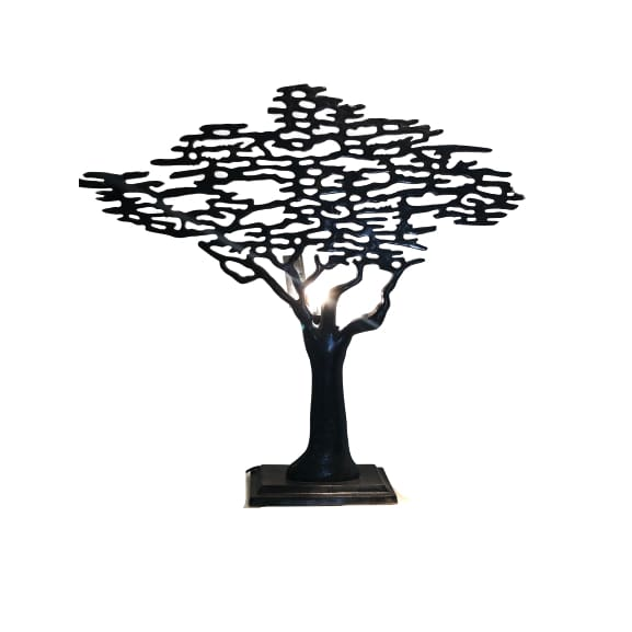Large Tree Of Life Lamp - Oxidised Pewter Please contact the store for on-line orders to find out shipping cost
