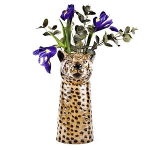 Leopard Ceramic Flower Vase by Quail Ceramics