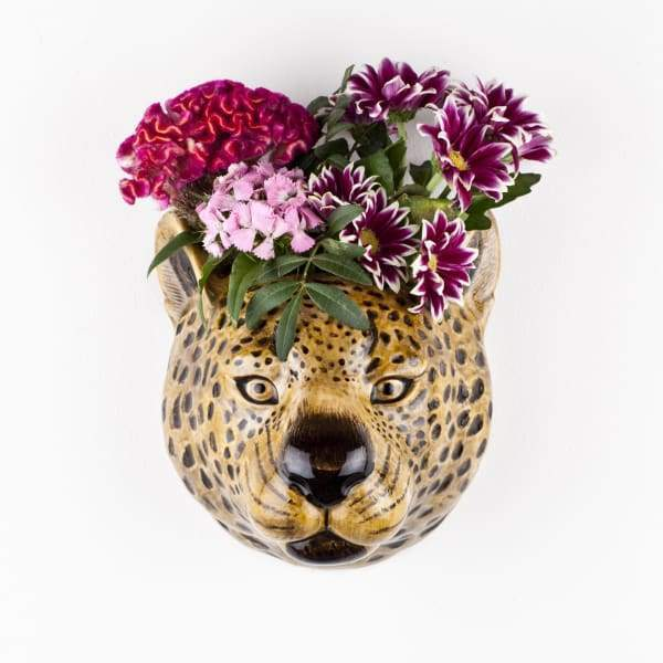 Leopard Ceramic Wall Vase By Quail Ceramics