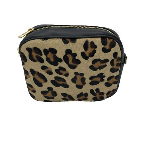 Leopard Print Bag In Italian Leather
