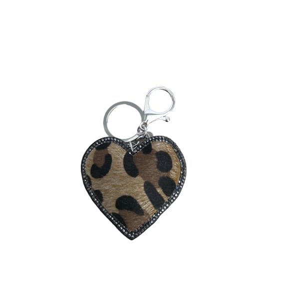 Leopard print keyring by Peace of Mind