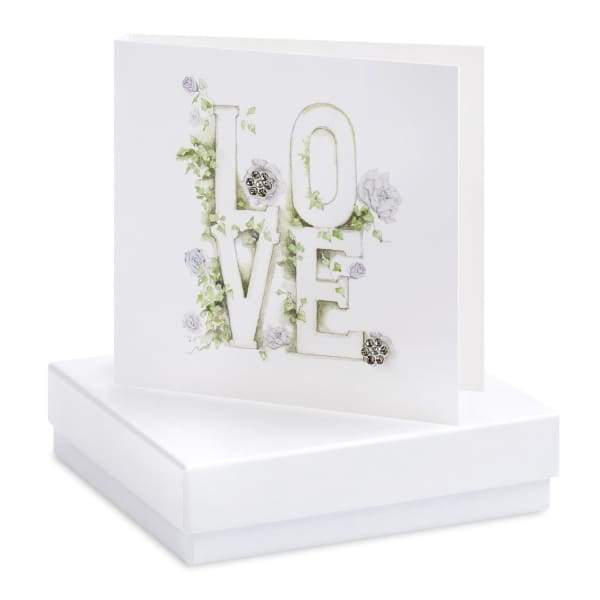 Boxed Love Letters Earring Card - Jewellery - Earrings