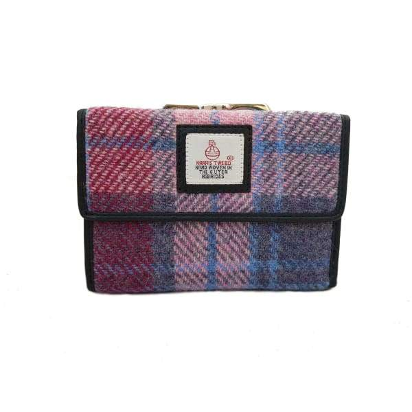 Medium Purse - Pastel Pink Harris Tweed