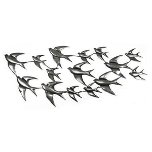 Metal Wall Art - Flight of Swallows (Small) Please contact the store for Shipping cost