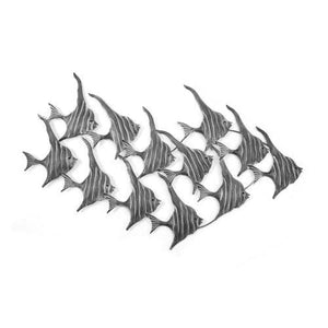 Metal Wall Art - Shoal Angel Fish Grey (Large) Please contact store for on-line order to find out shipping cost