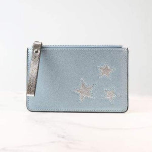 Metallic Blue Cardholder with Silver Stars by Peace of Mind