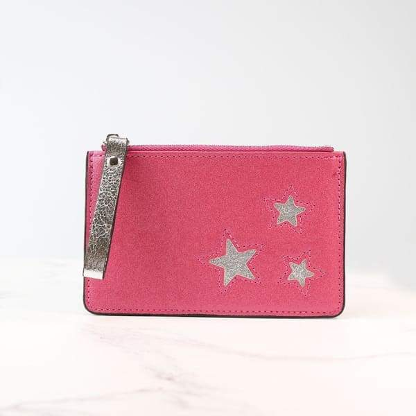 Metallic Pink Cardholder with Silver Stars by Peace of Mind