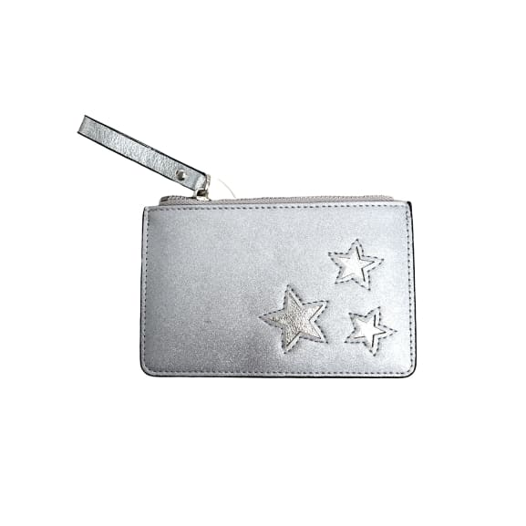 Metallic Silver Cardholder with Silver Stars by Peace of Mind