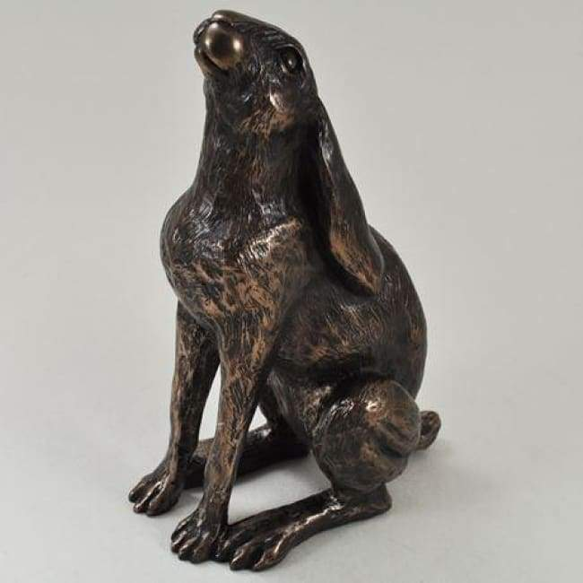Moondaisy Hare - Cold Cast Bronze Sculpture By Harriet Glen