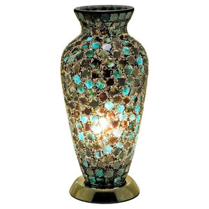Mosaic Glass Vase Lamp - Green