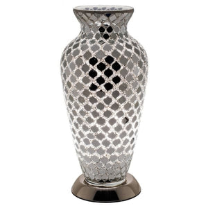 Mosaic Glass Vase Lamp - Mirrored