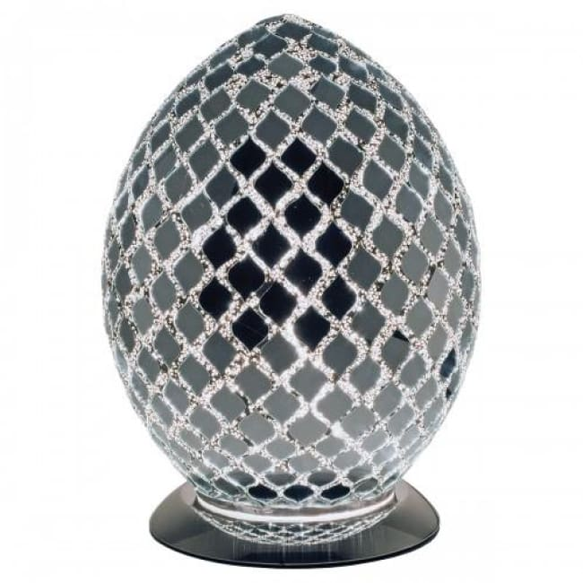 Mosaic Mirror Glass Egg Lamp