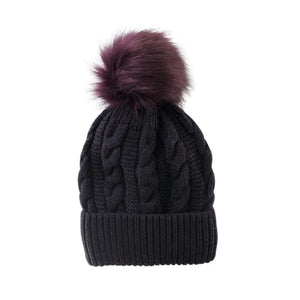 Mulberry bobble hat by Peace of Mind