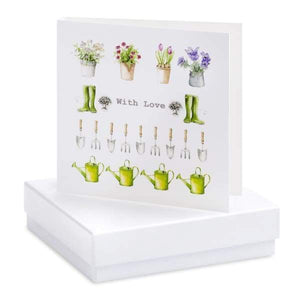 Multi Garden Silver Earrings on Designer Card by Crumble and Core