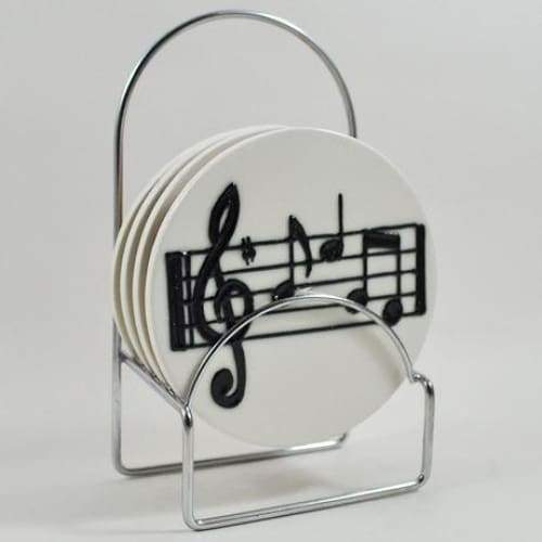 Musical Notes Ceramic Coasters - Set Of 4