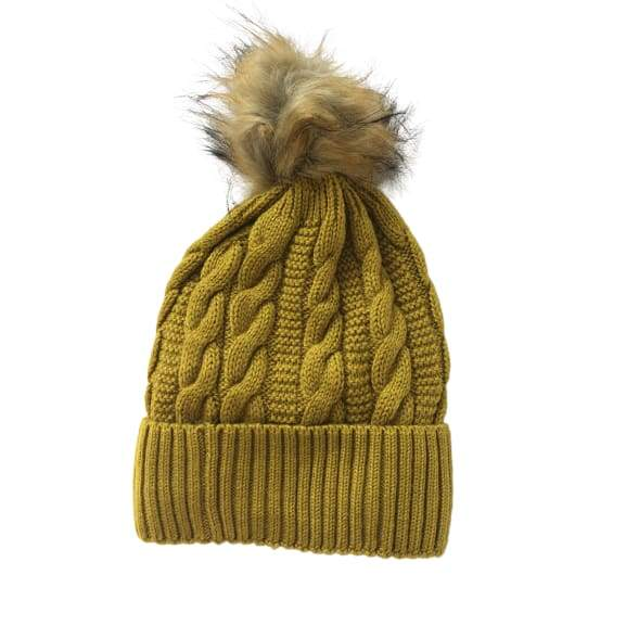 Mustard bobble hat by Peace of Mind