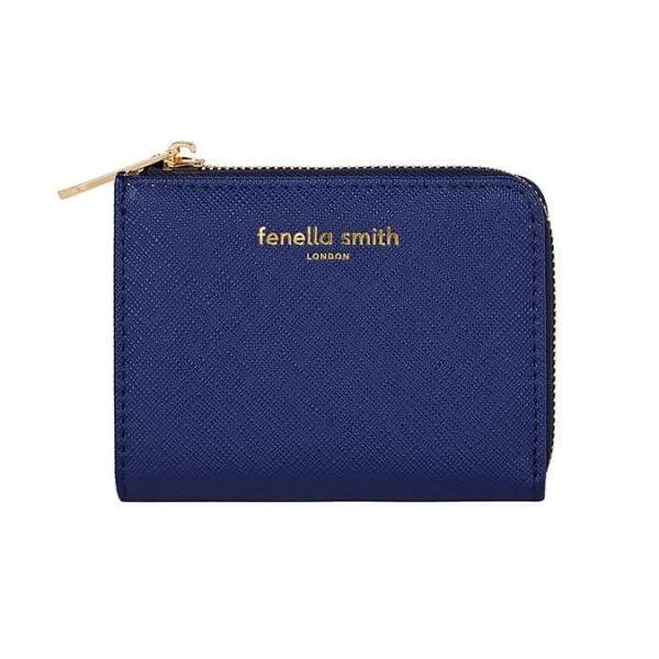 Navy Small Vegan Leather Purse By Fenella Smith