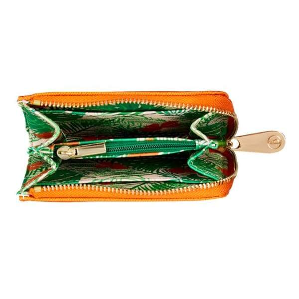 Orange Small Vegan Leather Purse by Fenella Smith