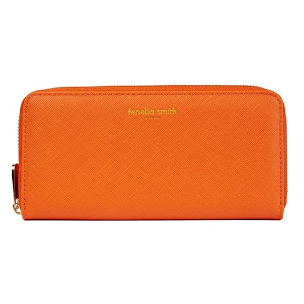 Orange Vegan Leather Purse by Fenella Smith