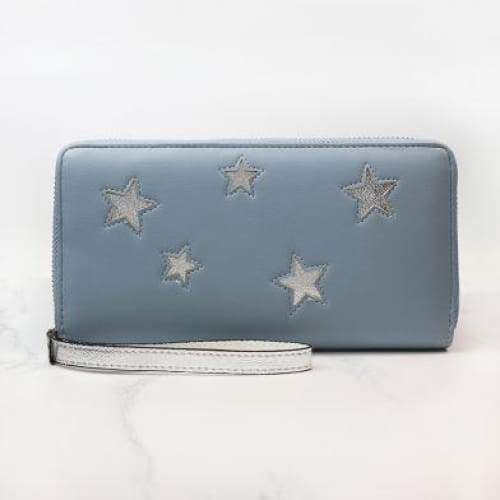 Pale Blue Purse with Silver Stars by Peace of Mind