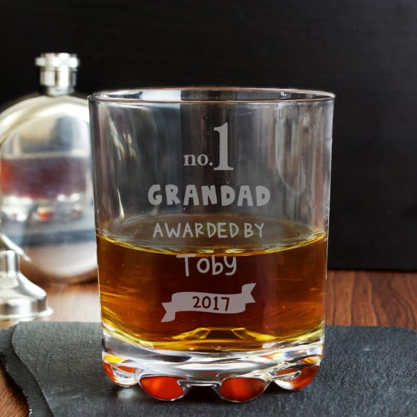 Personalised Awarded By Whisky Tumbler Glass