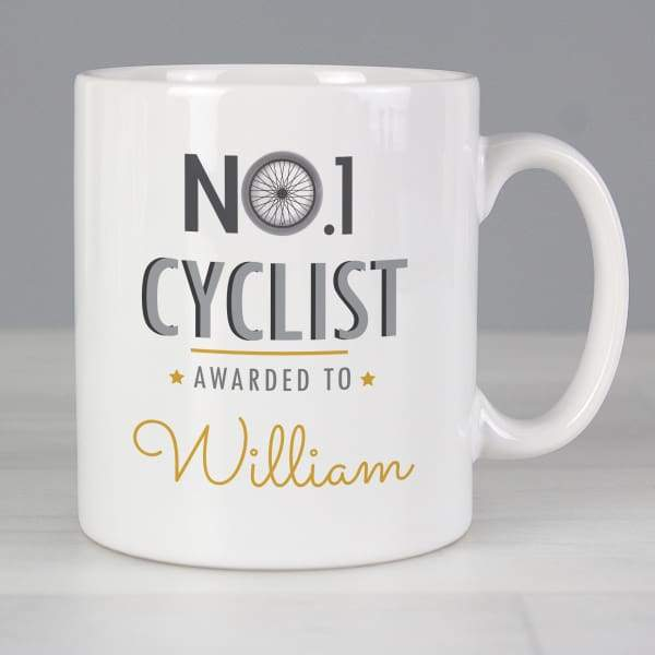Personalised No.1 Cyclist Mug