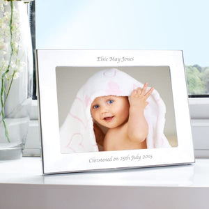 Personalised Silver 7x5 Landscape Photo Frame - Gift - Personalised