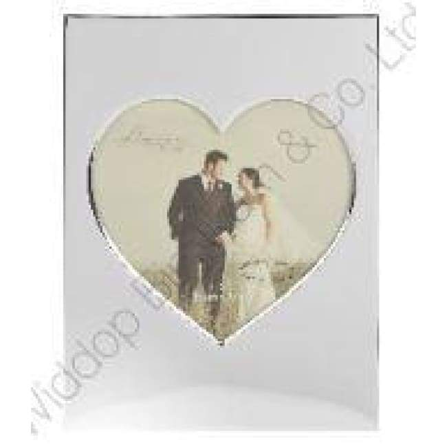 Photo Frame Amore Shiny Silverplated Frame With Heart Insert - Home Decor - Photo Frame