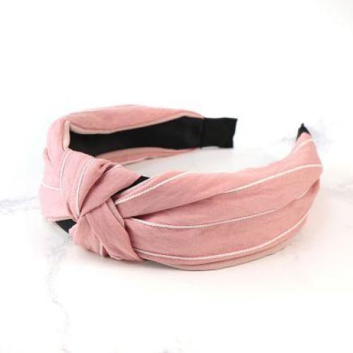 Pink and White striped headband