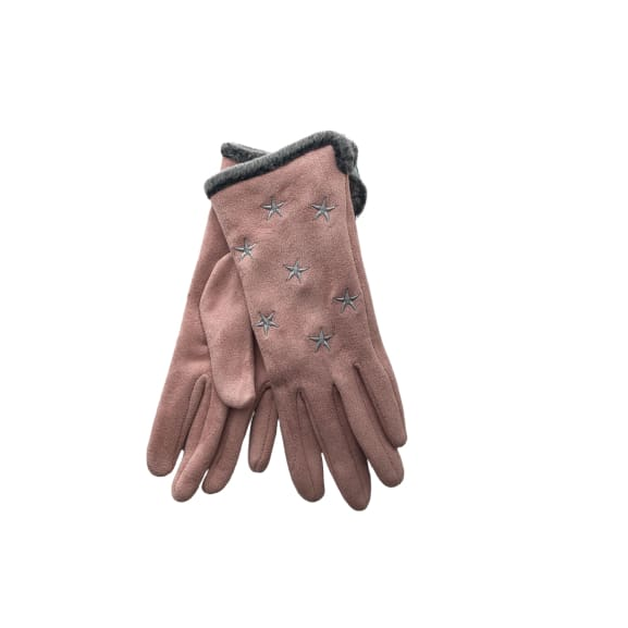 Pink Glove with grey stars by Peace of Mind