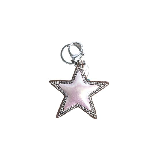 Pink star keyring with crystals by Peace of Mind