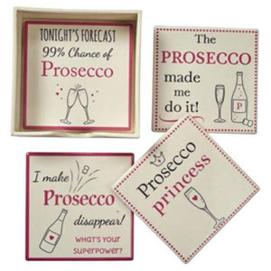 Prosecco Coasters - Set Of 4