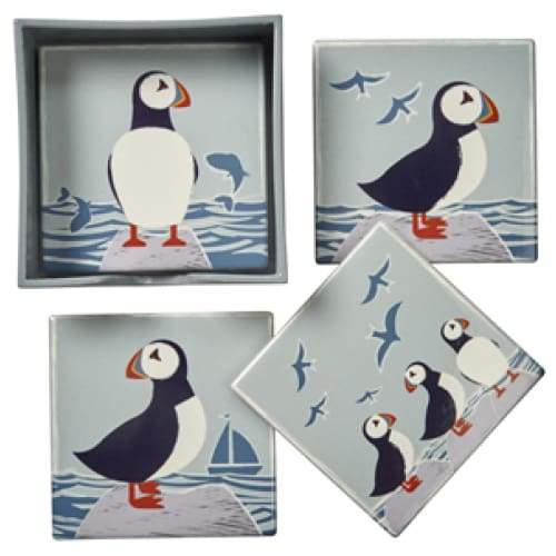 Puffin Coasters - Set Of 4 Ceramic