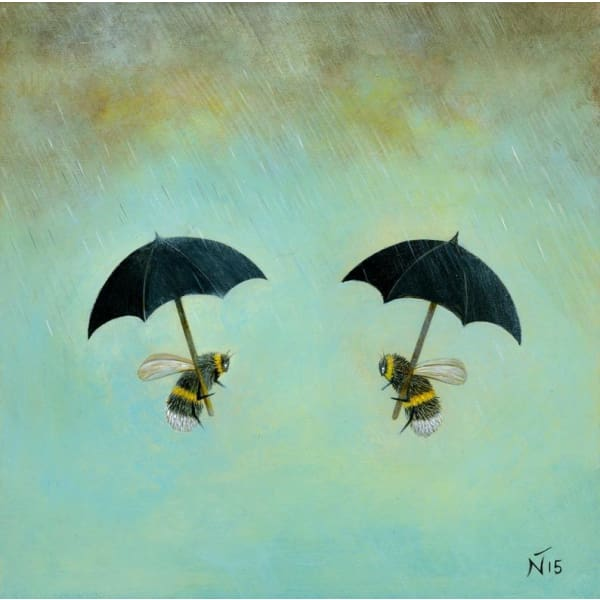 "Rainy Day Conversation By Neil Thompson (12""x12"")"