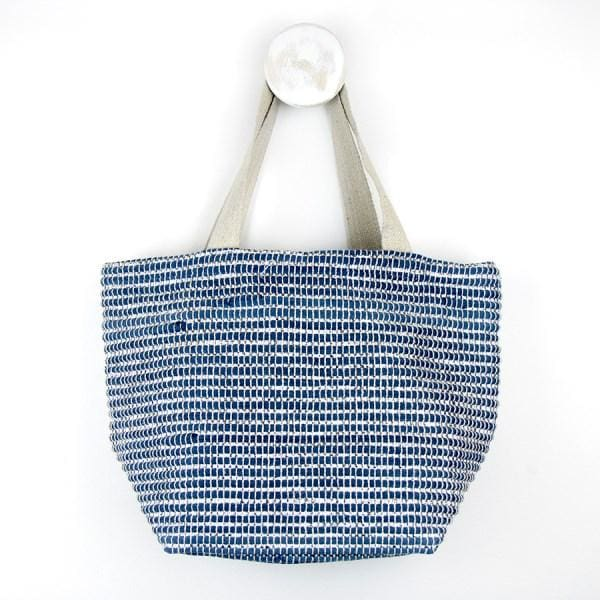 Recycled Blue and Silver Metallic Shoulder Bag by Peace of Mind