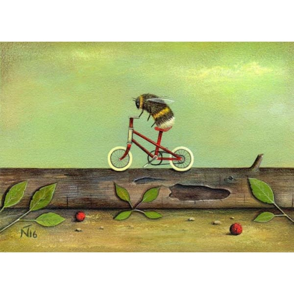 "Ride A Red Bike By Neil Thompson (12"" x 10"")"
