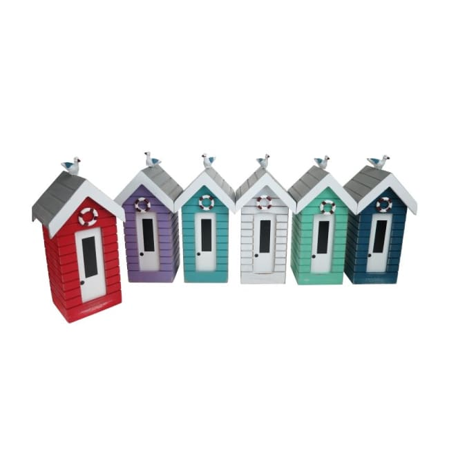 Rustic Finish Beach Hut Moneyboxes With Seagull - Home Decor - Ornamental