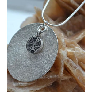 Sarah Swirl Necklace - Silver - Jewellery - Necklace